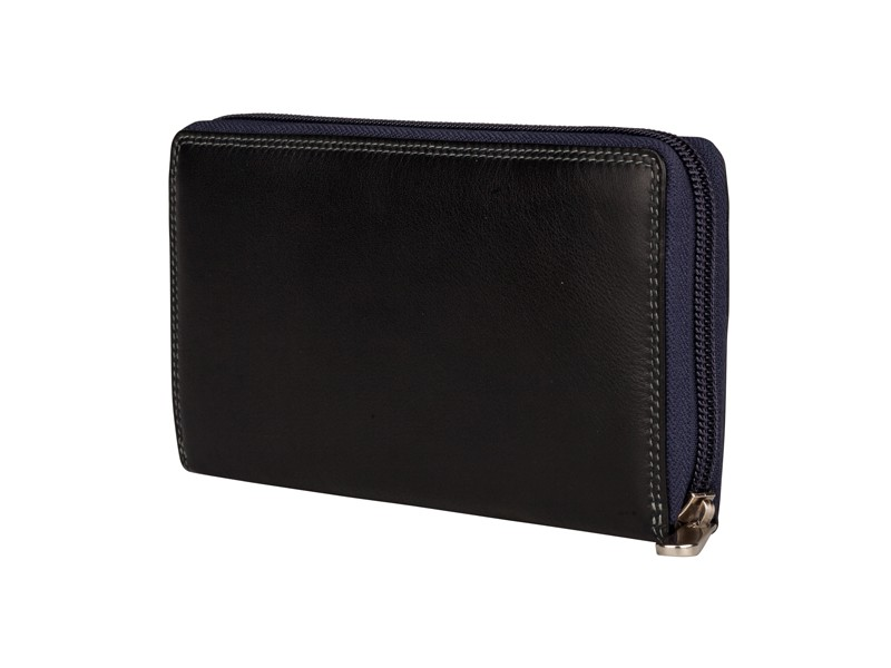 Patchi Multicolor - Ladies Wallet Rev Zwart