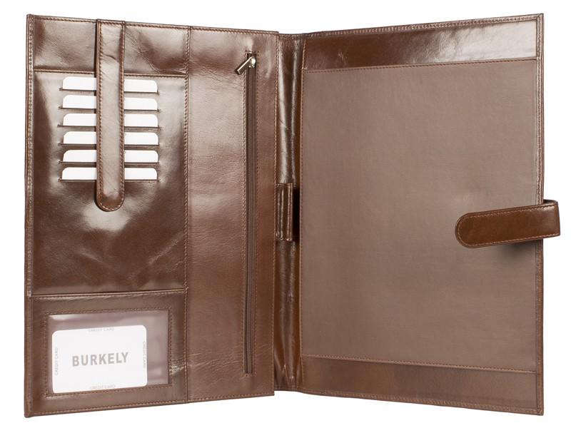 A4 Schrijfmap met Lipsluiting (Salesmap) Cognac