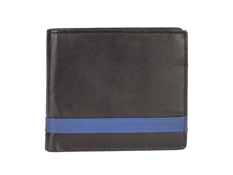 Nick Tardan heren portemonnee - Primary Style (Card Case) Zwart - Blue Line