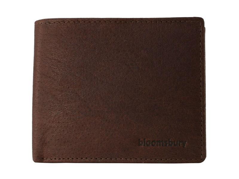 Portemonnee Heren Bruin.Bloomsbury Heren Portemonnee Blofeld Tan