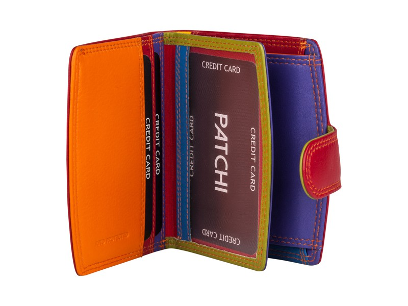 Patchi Multicolor - Kleine Dames portemonnee Rood - multicolor