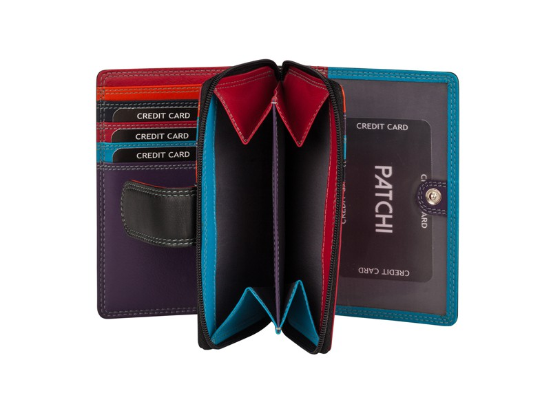 Patchi Multicolor - Ladies Wallet Club Zwart - Multicolor