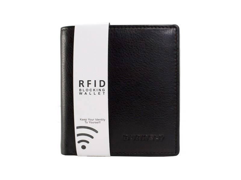 Burkely RFID Heren Portemonnee High Billfold Small Zwart