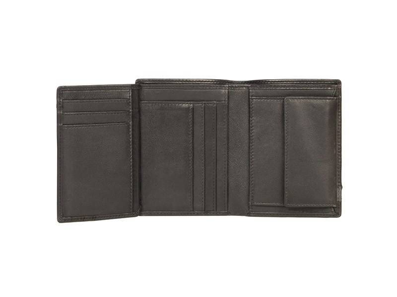 Nick Tardan heren portemonnee - Primary Style (High Billfold) Zwart - Blue Line
