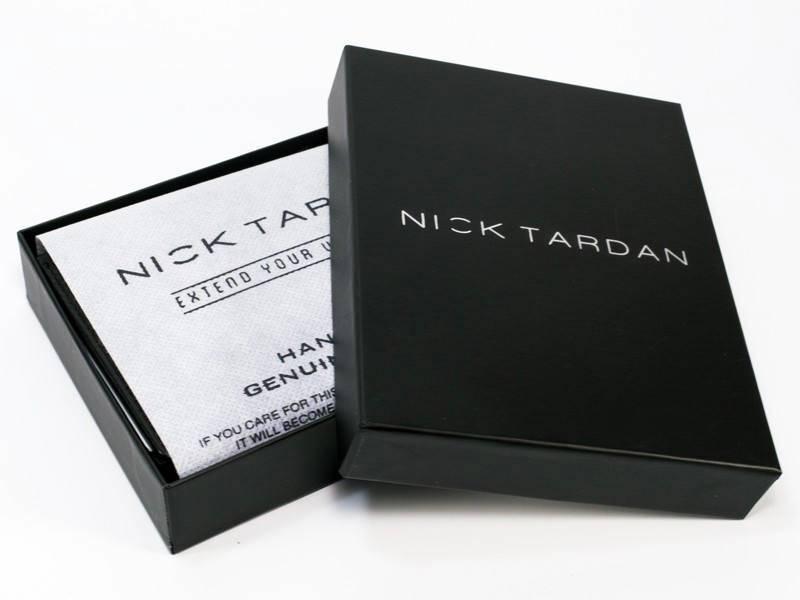 Nick Tardan heren portemonnee - Stage Style (Large low Billfold) Zwart