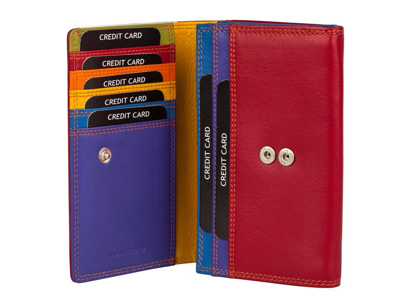 Patchi Multicolor - Ladies Wallet Revert Zwart - Multicolor