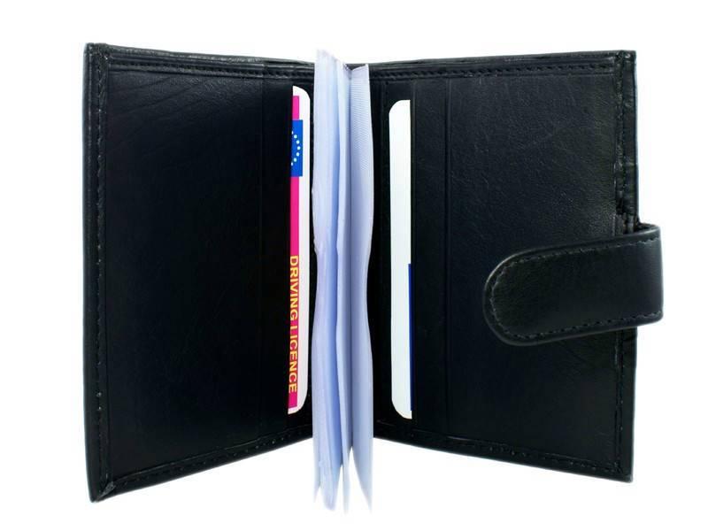Basic Creditcard Houder met Muntvakje Zwart