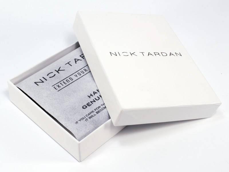 Nick Tardan heren portemonnee - Blue Style (Large low Billfold) Zwart