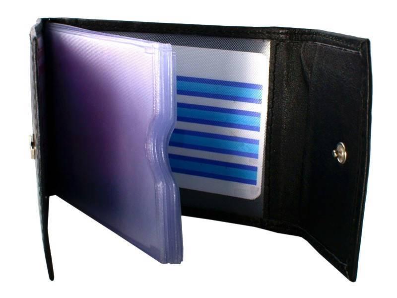 Basic Creditcard Houder met Druksluiting Zwart