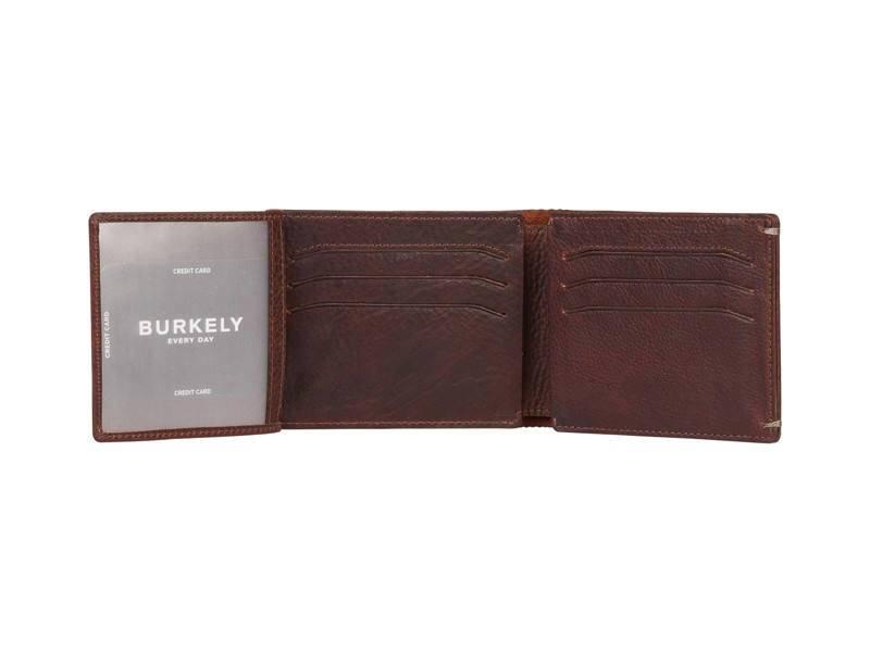 Burkely Vintage Hunter Heren portemonnee - 2dos Donker Bruin