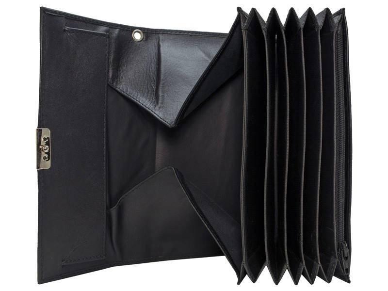 Horeca Portemonnee met groot muntgeld vak Zwart