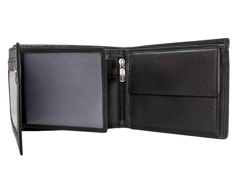 Burkely RFID Heren Portemonnee Low Billfold Large Zwart