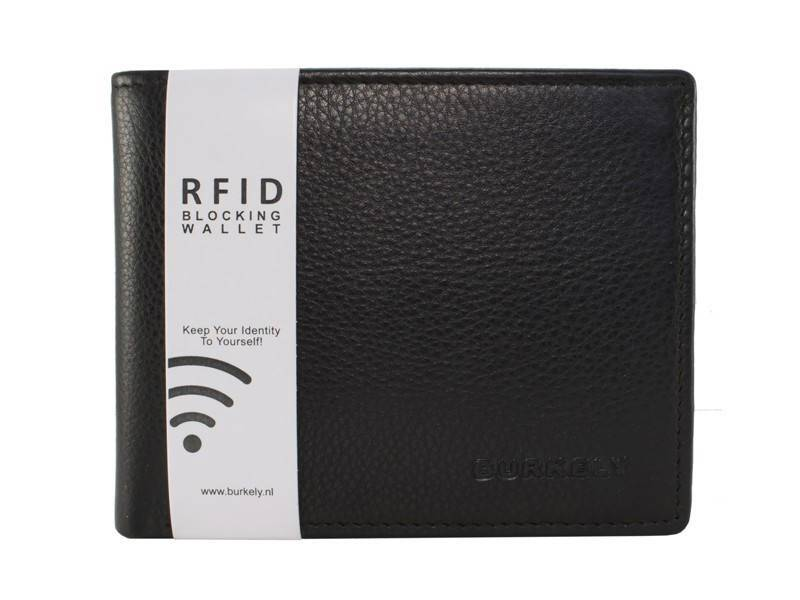 Burkely RFID Heren Portemonnee Low Billfold Zwart