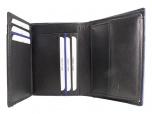 Nick Tardan leren Heren portemonnee Blue Style Zwart