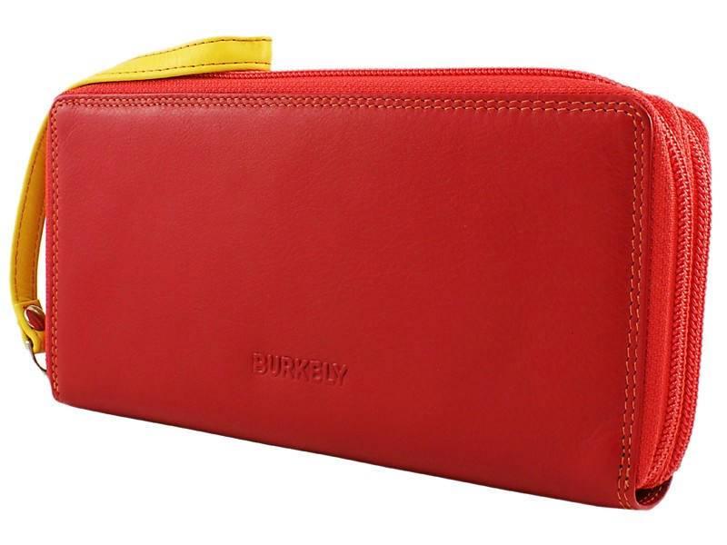 Burkely Dames Portemonnee met Polskoord Rood - multicolor