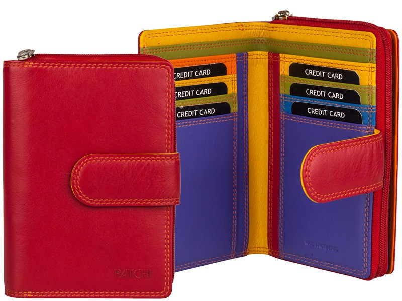 Patchi Multicolor - Ladies Wallet Club Rood - Multicolor
