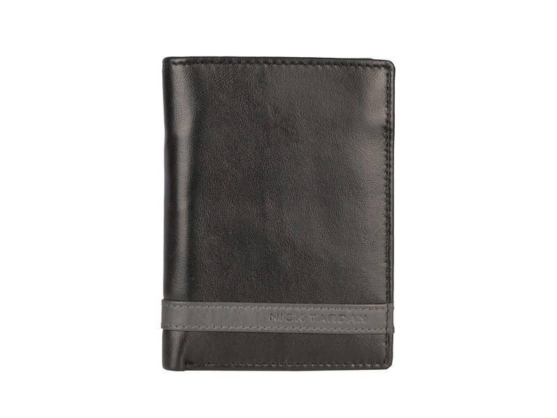 Nick Tardan heren portemonnee - Primary Style (High Billfold) Zwart - Grey Line