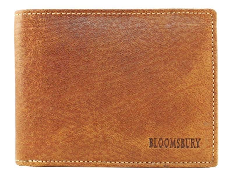 Bloomsbury Leren heren portemonnee Base (zonder muntvak) Cognac