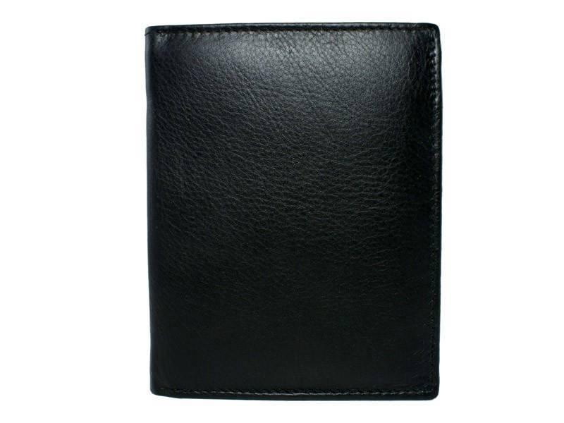 Leren Heren portemonnee High (Veel pasjes) Zwart