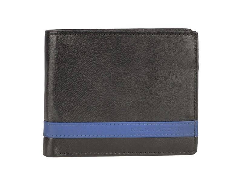 Nick Tardan heren portemonnee - Primary Style (Large) Zwart - Blue Line