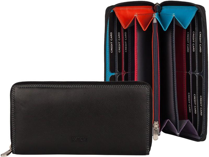 Patchi Multicolor - Ladies Wallet Rev Zwart - multicolor