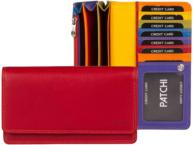 Patchi Multicolor - Ladies Wallet Original Rood - Multicolor