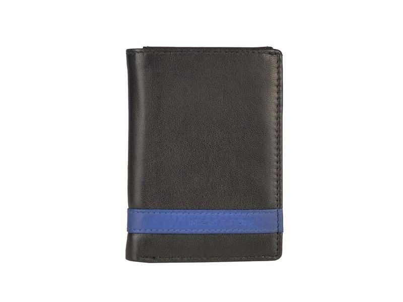Nick Tardan Creditcard mapje - Primary Style (Card Holder) Zwart - Blue Line