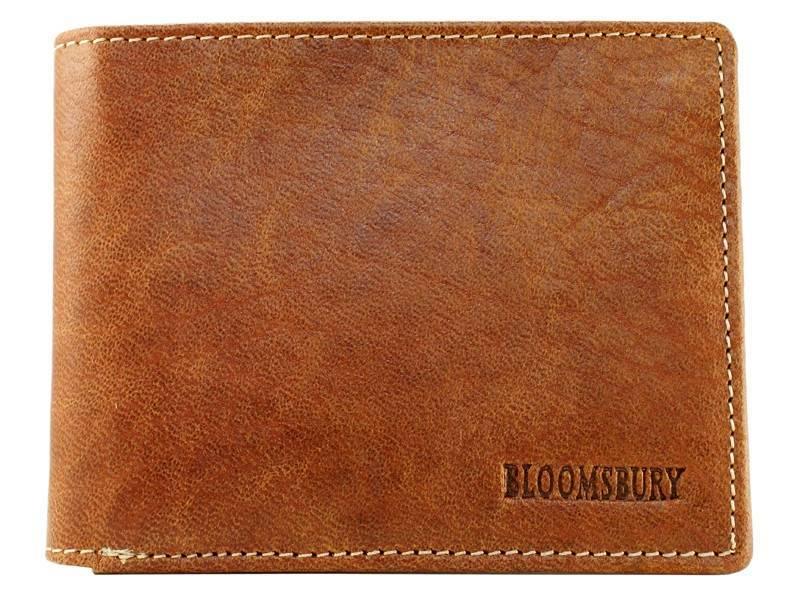 Bloomsbury Leren heren portemonnee Bit Cognac