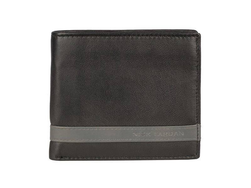 Nick Tardan heren portemonnee - Primary Style (Card Case) Zwart - Grey Line