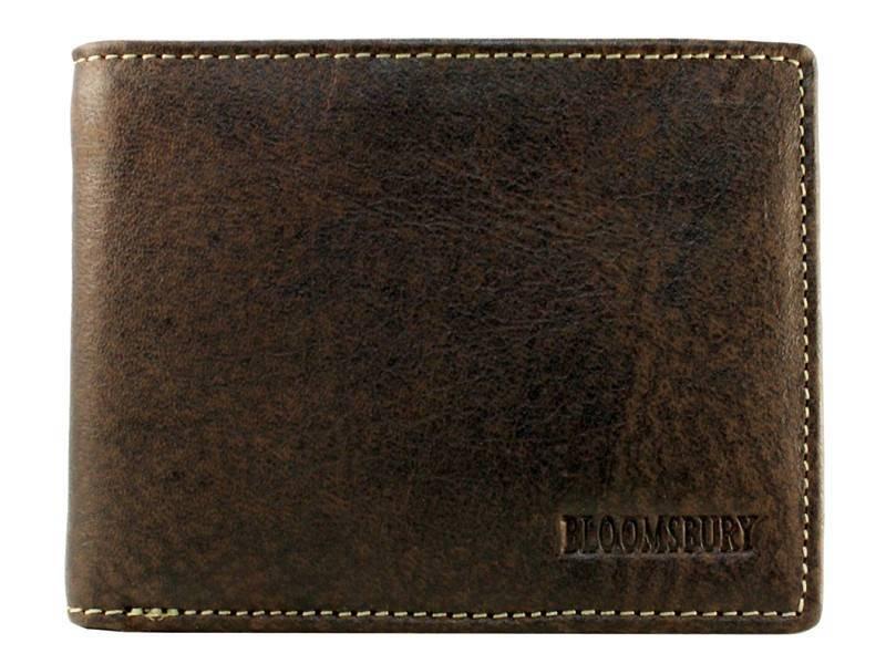 Bloomsbury Leren heren portemonnee Bit Bruin