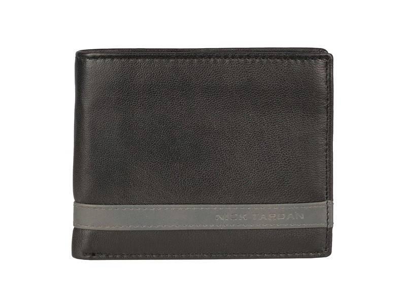 Nick Tardan heren portemonnee - Primary Style (Large) Zwart - Grey Line