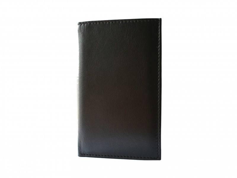 Hoog Creditcard mapje met briefgeld vak Zwart