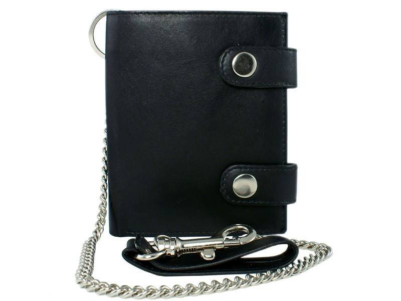 Basic High Billfold met ketting en karabijnhaak Zwart