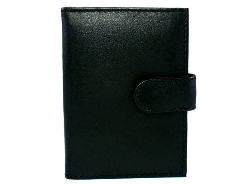 Basic Creditcard Houder met Lip Zwart