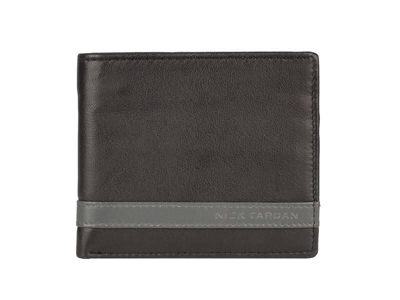 Nick Tardan heren portemonnee - Primary Style (Low Billfold) Zwart - Grey Line
